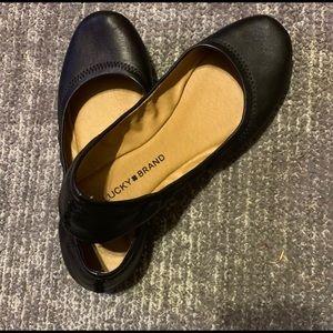 Lucky Brand flats, size 8, black